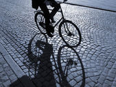 下午骑自行车 — 图库照片