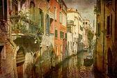 Bello tranquillo canal venezia — Foto Stock