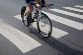 Individual time trial cyclist — Stock Photo