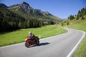 Biking in the Dolomites — Stock Photo