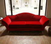 Red sofa — Stock Photo