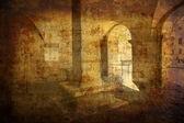 Medieval vaults Montepulciano — Stock Photo