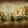 Gondolas Grand Canal - Stock Photo
