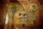 Medieval town gate Siena — Stock Photo