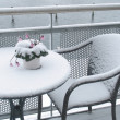 Stock Photo: Balcony in winter