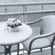 Balcony in winter — Stock Photo #6573886