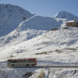 Bus passing the top - Photo