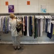 Senior female shopping — Stock Photo
