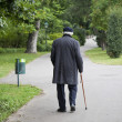 Senior walk in the park — Stock Photo