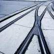 Rails for a tram Vienna — Stock Photo