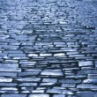 Nighttime cobblestone — Stock Photo