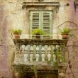 Tiny balcony Split - retro — Stock Photo