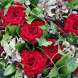 Decoration with red roses — Stock Photo