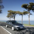 Stock Photo: Driving along the coast