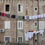 Washing day Dubrovnik — Stock Photo