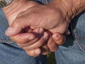 Workers hands — Stock Photo