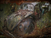 Old scrapped automobile — Stock Photo