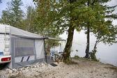 Camping by Lake Bohinj — Stock Photo
