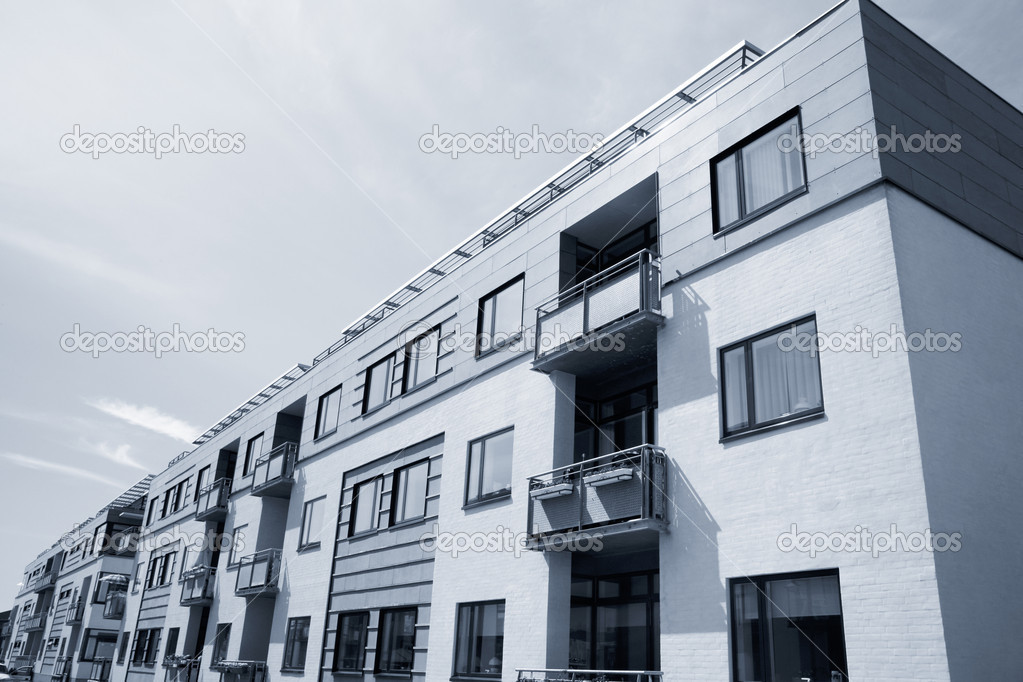 New apartment building at the waterfront of Nyborg, Denmark  Stock Photo #6574215