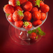A chalice of strawberries — Stock Photo