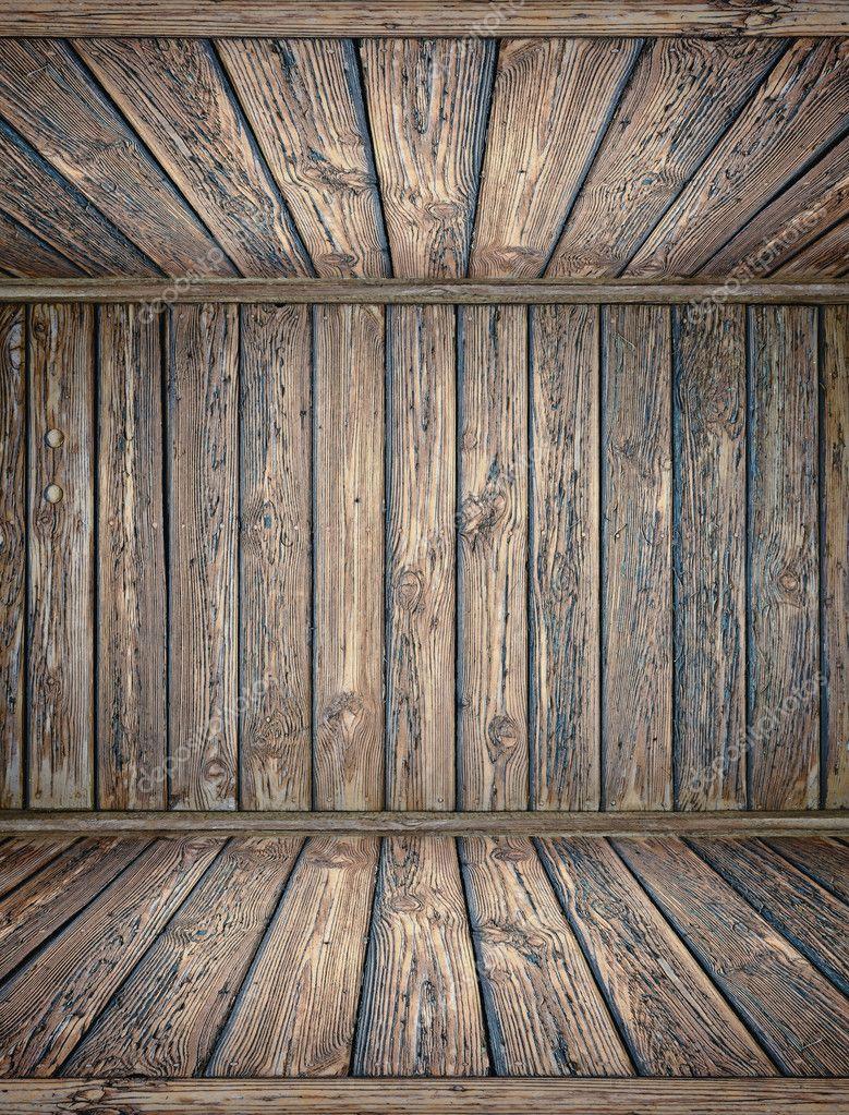 오래 된 나무 깊은 인테리어 바닥 및 천장 — 스톡 사진 © Utiwamoj ...