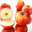 Stock Photo: Group of apples, mirror