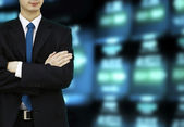 Stock Exchange Businessman — Stock Photo