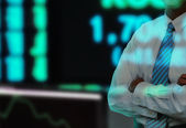 Stock Exchange Businessman — Stock Photo
