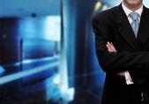 Businessman in modern office — Stock Photo