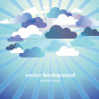 Stock Vector: Abstract Cloud Background Vector