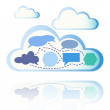 Stock Vector: Abstract cloud computing