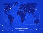 Vector illustration night travel world map — Stock Vector