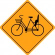 Stock Vector: Wombicycles road sign