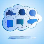 Astratto colorato cloud computing — Vettoriale Stock