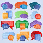 Set of colorful labels, speech bubbles — Stock Vector