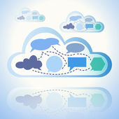 Astratto di cloud computing — Vettoriale Stock