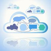 Abstract cloud computing — Stock Vector