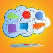 Abstract colorful big cloud computing — Stock Vector