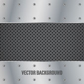 Metal plate vector illustration background — Stock Vector