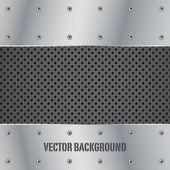 Metal plate vector illustration background — Stock Vector