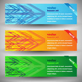 Modern elegant arrows eps10 vector banners — Stock Vector