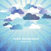 Abstract Cloud Background puzzle jigsaw — Stock Vector
