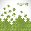 Puzzle pieces vector design - Vettoriali Stock