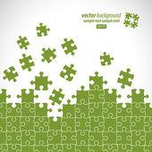Puzzle pièces vector design — Vecteur