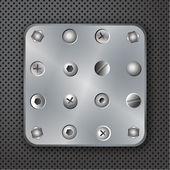 Screws rivets and bolts vector illustration — Stock Vector