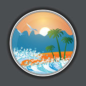 Summer holiday beach background vector — Stok Vektör