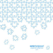 Puzzle pieces vector design — Stock Vector