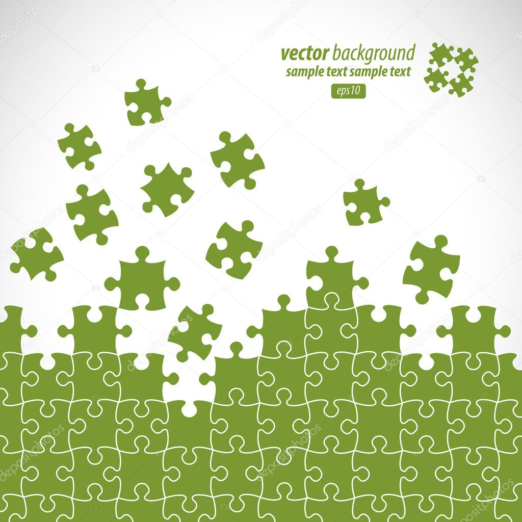 Puzzle pieces vector design — Stock Vector #6008611