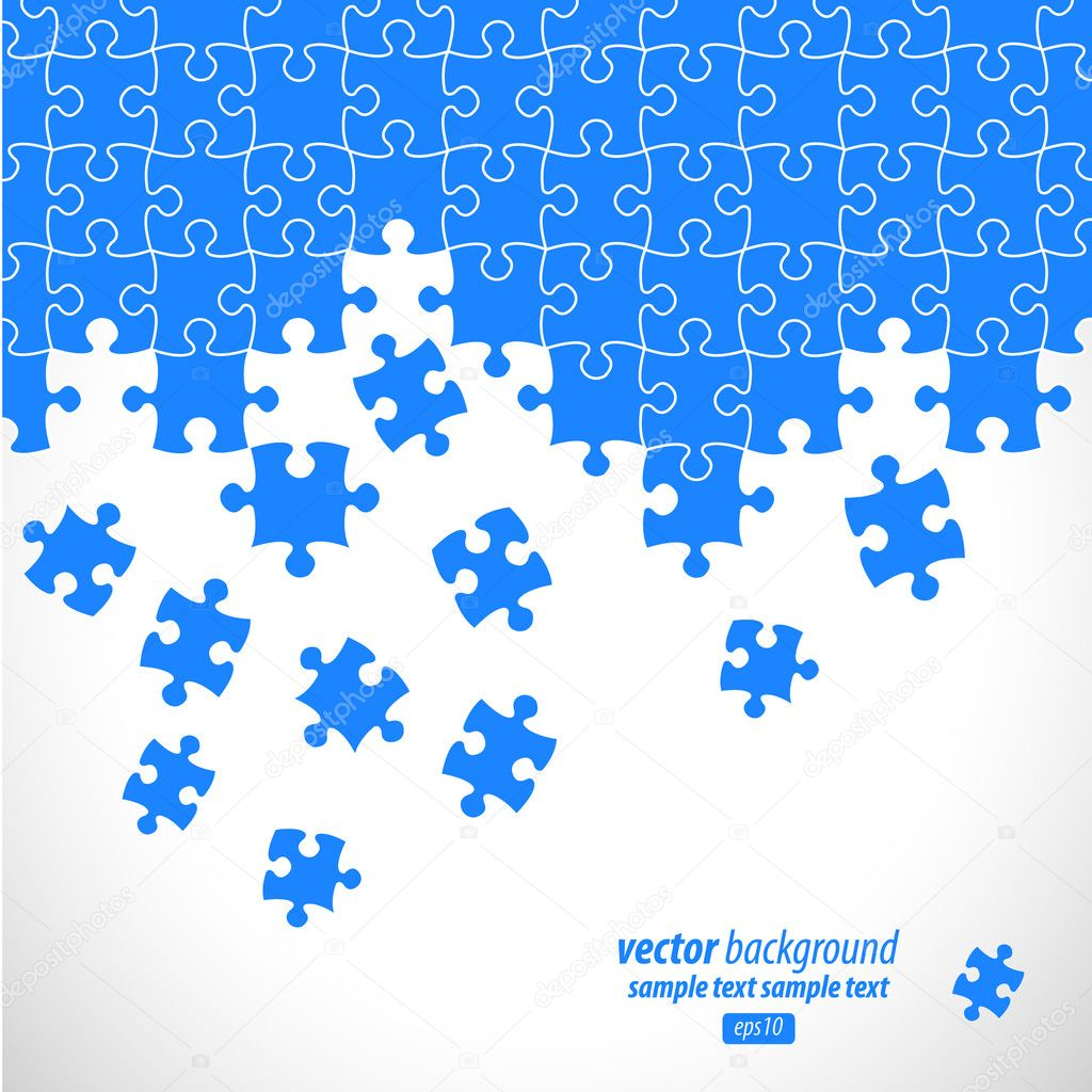 Puzzle Pieces Background Free Vector Puzzle Pieces Vector Design