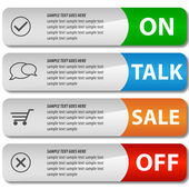 Modern elegant sale design eps10 vector banners — Stock Vector